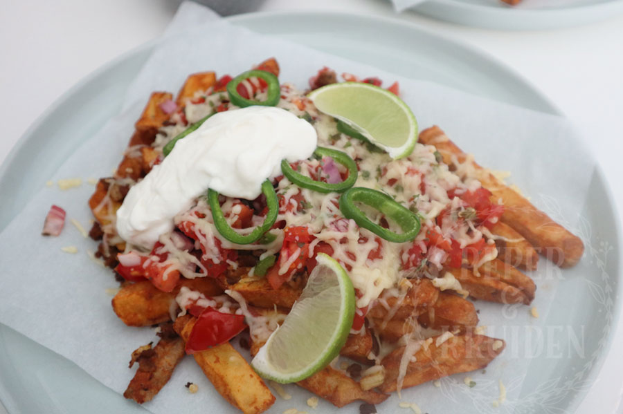 Mexicaanse loaded taco fries